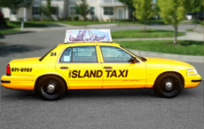 Mid Island Taxi Corp's Yellow cab